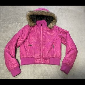 Triple Flip Bomber jacket size Four (girls 12). Good condition, marks noted
